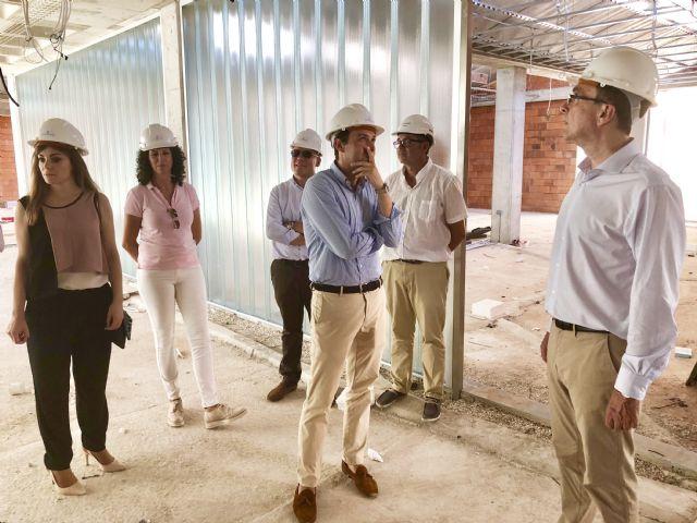Las obras de la nueva Biblioteca y Centro Cultural de Beniaján encaran su recta final con una ejecución que supera el 60% - 1, Foto 1