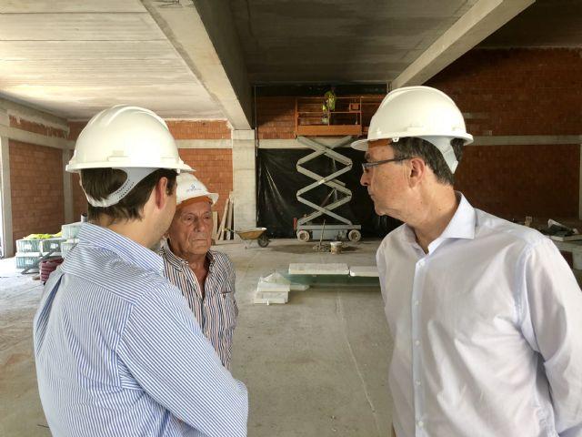 Las obras de la nueva Biblioteca y Centro Cultural de Beniaján encaran su recta final con una ejecución que supera el 60% - 2, Foto 2
