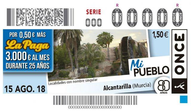 El municipio de Alcantarilla protagoniza el cupón de la ONCE del próximo miércoles 15 de agosto - 1, Foto 1