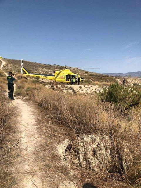 Rescatan y evacuan por aire a un ciclista herido en Cañada Hermosa - 1, Foto 1
