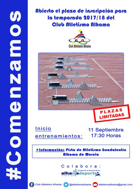 El Club Atletismo Alhama vuelve a los entrenamientos., Foto 1