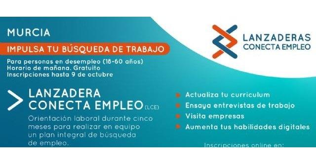 La II ´Lanzadera Conecta Empleo´ de Murcia comenzará a finales de octubre para desempleados de entre 18 y 60 años - 1, Foto 1