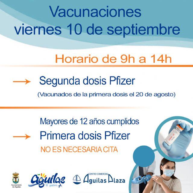 Centro Comercial Águilas Plaza acogerá el viernes una nueva jornada de vacunaciones masivas contra la COVID 19 sin cita - 1, Foto 1
