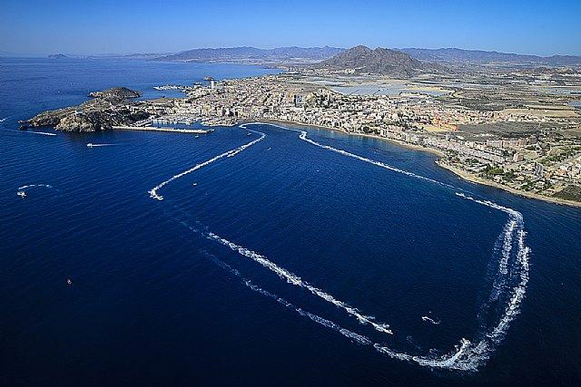 Las motos de agua se exhiben en la Bahía de Mazarrón, Foto 1