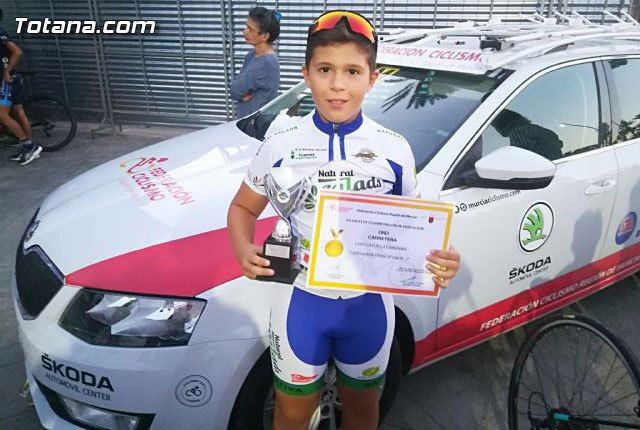 The totanero Luis Cayuela Cánovas triumphs in the Regional Road Bike Cycling Championship