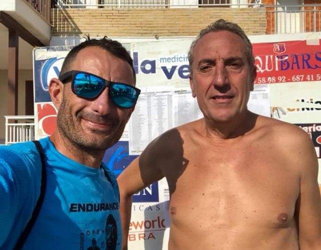 El totanero José Miguel Cano participo en la II travesía a nado del circuito ENDURANCE MAR MENOR, Foto 2