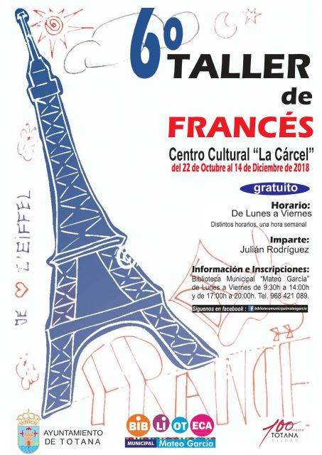 The 6th French Workshop is organized, from October 22 to December 14, free of charge