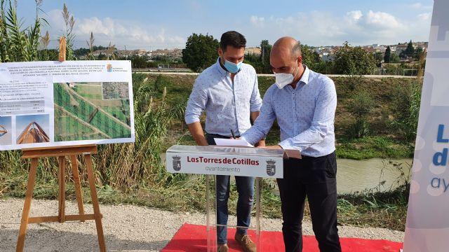 Los ayuntamientos de Molina de Segura y Las Torres de Cotillas firman un convenio para construir la pasarela peatonal que unirá las pedanías de La Ribera y La Loma - 4, Foto 4