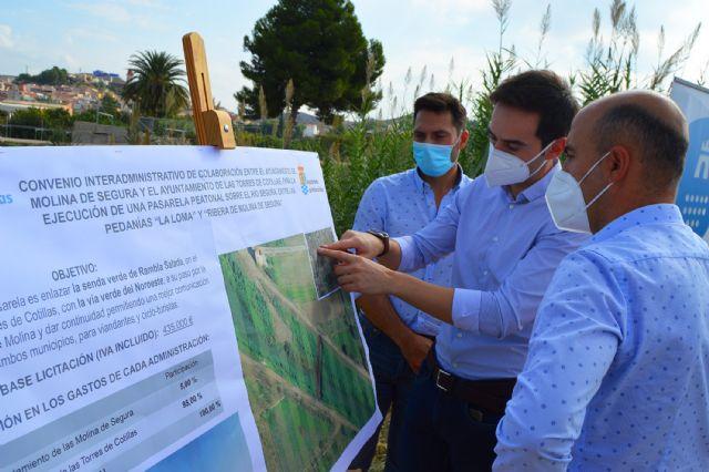 Las Torres de Cotillas y Molina de Segura firman el convenio para construir la pasarela peatonal que unirá La Loma con La Ribera - 2, Foto 2