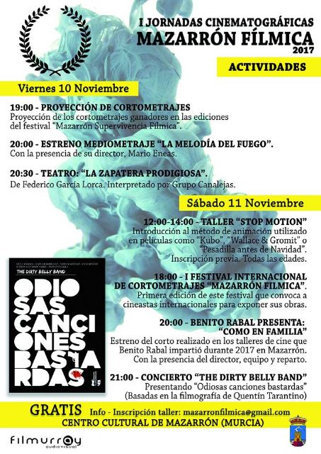 Fin de semana dedicado al cine en el centro cultural de Mazarrón, Foto 1