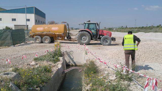 Ahora Murcia logra demostrar que el agua de los regantes se extrae ilegalmente para las obras de la autovía del Reguerón - 1, Foto 1