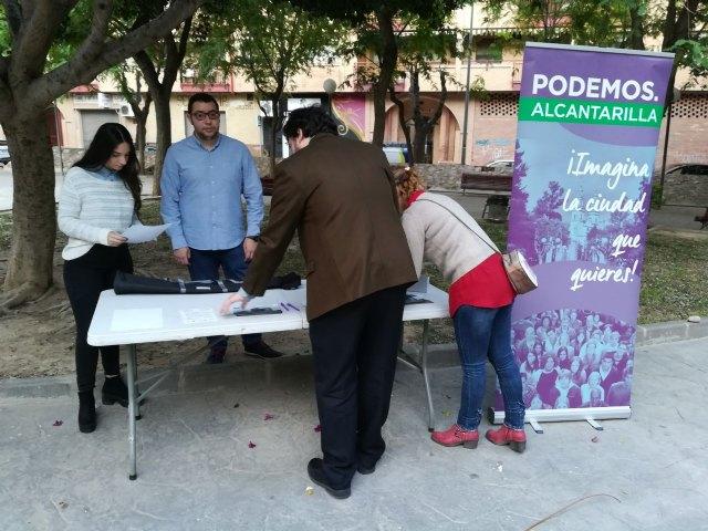 Podemos Alcantarilla saca el debate sobre los presupuestos municipales 2019 a la calle - 1, Foto 1
