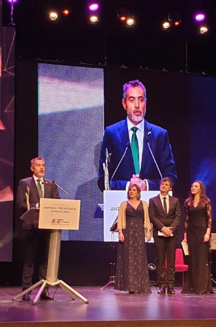 Juan Alfonso Cervantes premiado con la Antena de Plata a profesional de la Televisón de la ARTV de Murcia - 1, Foto 1