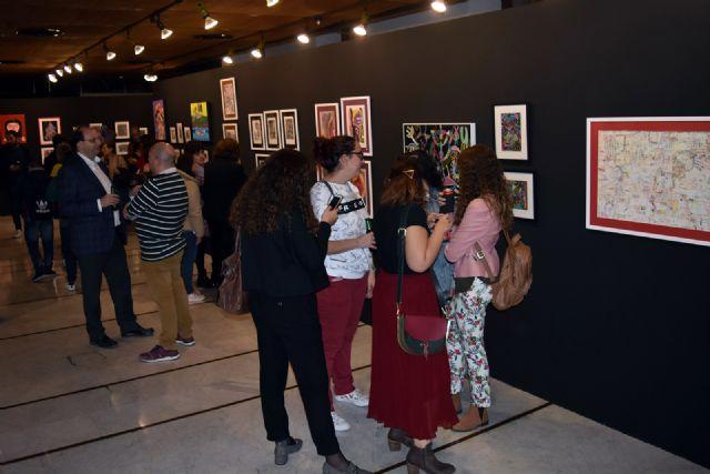 El Colegio de Arquitectos de Murcia acoge una exposición con más de 80 obras de los artistas con síndrome de Down de Assido, Foto 2