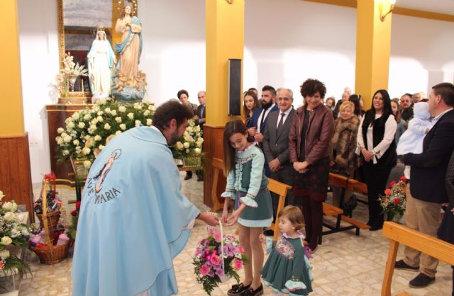Los vecinos de La Estación-Esparragal homenajean a su patrona con la ofrenda floral - 1, Foto 1
