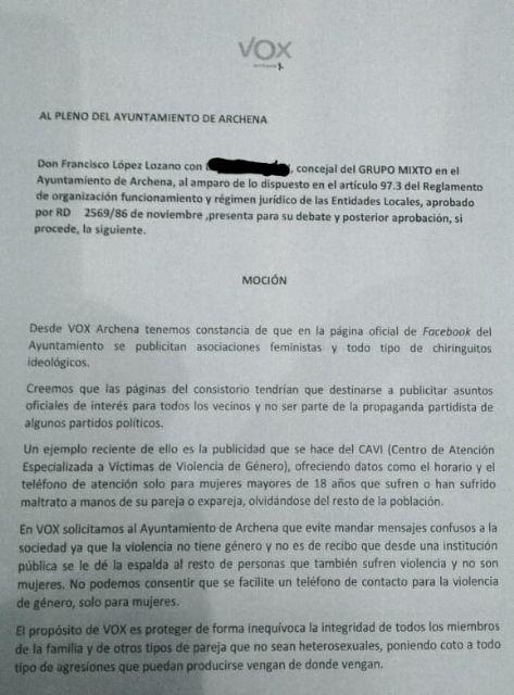 El PP pide la dimisión del concejal de VOX por solicitar en una moción el cierre del CAVI - 1, Foto 1
