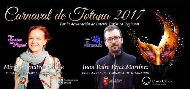 Miriam Peñalver García será La Musa y Juan Pedro Pérez Martínez será Don Carnal de los Carnavales de Totana 2017, Foto 1