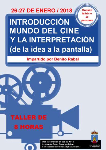 Benito Rabal impartirá un nuevo ciclo gratuito de talleres cinematográficos, Foto 1