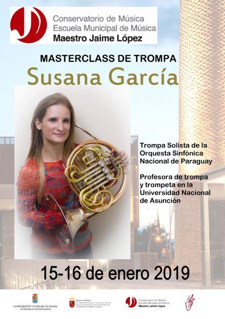 El Conservatorio Profesional de Música Maestro Jaime López de Molina de Segura organiza una master class de trompa los días 15 y 16 de enero - 1, Foto 1
