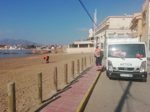 Las playas de Puerto de Mazarrón objeto de las primeras mejoras en el nuevo año, Foto 3