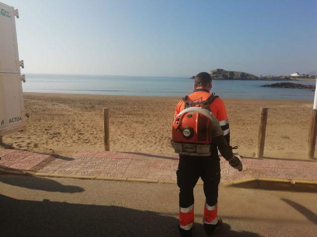 Las playas de Puerto de Mazarrón objeto de las primeras mejoras en el nuevo año, Foto 5