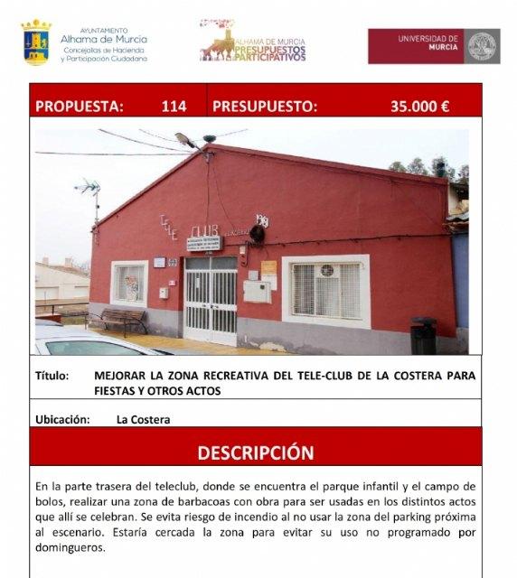 Adjudicadas las obras de mejora de la zona recreativa del teleclub en La Costera, Foto 1