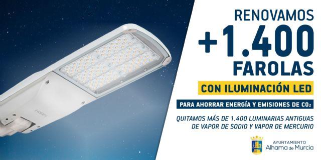 El Ayuntamiento renueva más de 1.400 farolas con iluminación LED, Foto 1