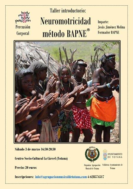 La Agrupación Musical de Totana organiza el curso Método BAPNE: mucho más que percusión corporal, Foto 2