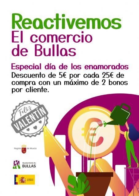 La Concejalía de Comercio lanza la campaña Reactivemos el comercio de Bullas coincidiendo con San Valentín - 1, Foto 1