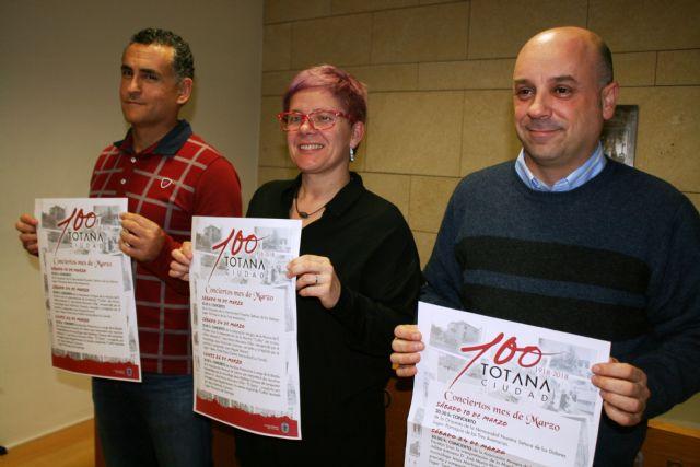 La comisión organizadora del Centenario de la Ciudad programa tres conciertos para el mes de marzo