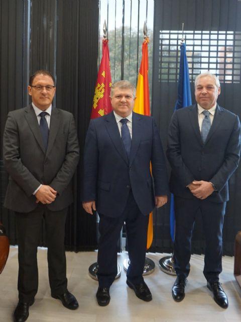 Gaspar Miras y Ginés Campillo se reúnen en Murcia con el nuevo Delegado del Gobierno, José Vélez - 1, Foto 1
