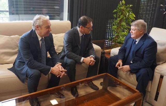 Gaspar Miras y Ginés Campillo se reúnen en Murcia con el nuevo Delegado del Gobierno, José Vélez - 2, Foto 2