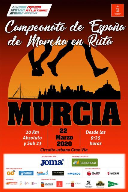 Este miércoles, presentación del LXXII Campeonato de España de 20km. Marcha Murcia 2020 - 1, Foto 1