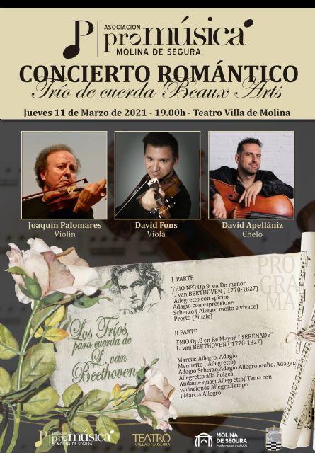 El Trío de Cuerda Beaux Arts ofrece el CONCIERTO ROMÁNTICO el jueves 11 de marzo en el Teatro Villa de Molina - 4, Foto 4