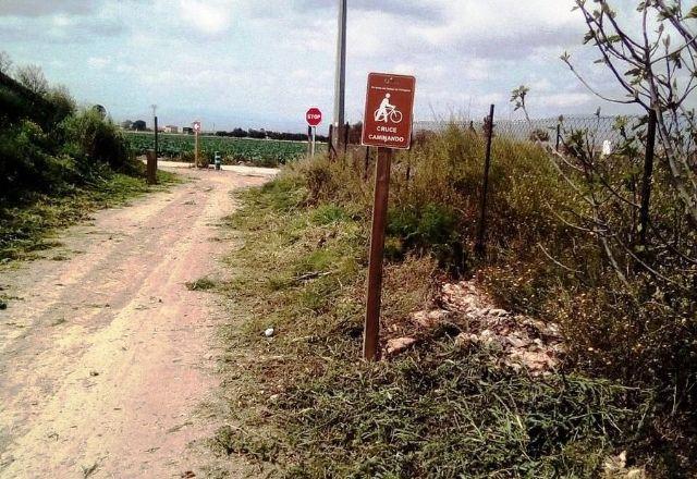 Los propietarios de fincas que deban hacer uso obligado de tramos de la Vía Verde Campo de Cartagena-Totana para acceder a sus propiedades han de solicitar autorización al Consorcio de Vías Verdes de la Región de Murcia - 2, Foto 2