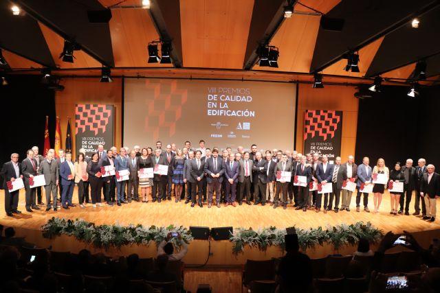 Fernando López Miras asiste al acto de entrega de los VIII Premios de Calidad en la Edificación de la Región - 1, Foto 1