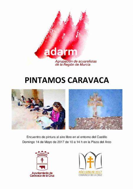 La Agrupación de Acuarelistas de la Región de Murcia celebra este domingo la jornada 'Pintamos Caravaca', Foto 1