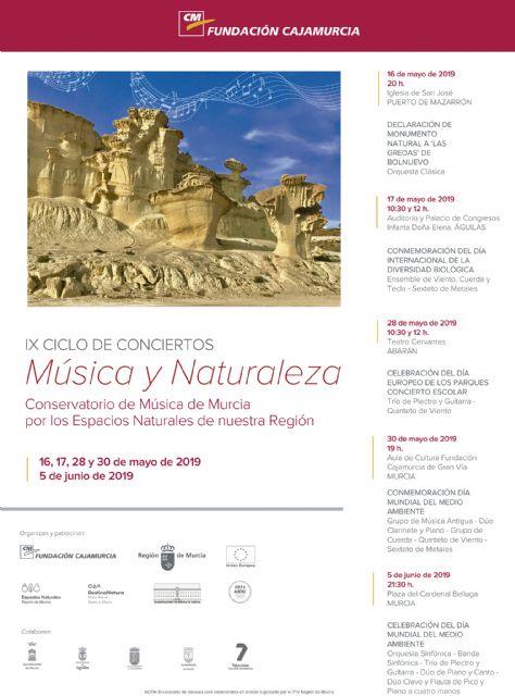 La Orquesta Clásica del Conservatorio de Música de Murcia dedicará un concierto a la declaración de monumento natural de las Erosiones de Bolnuevo - 1, Foto 1