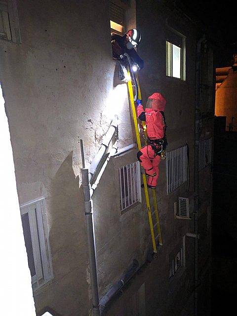 Bomberos retiran un panal de abejas en Cieza - 1, Foto 1