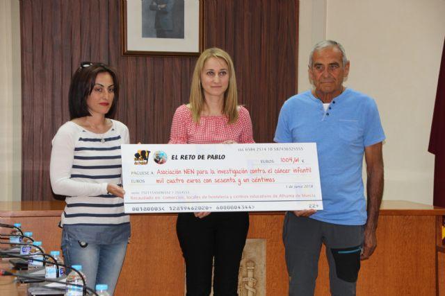 Alhama se solidariza con ´El reto de Pablo´