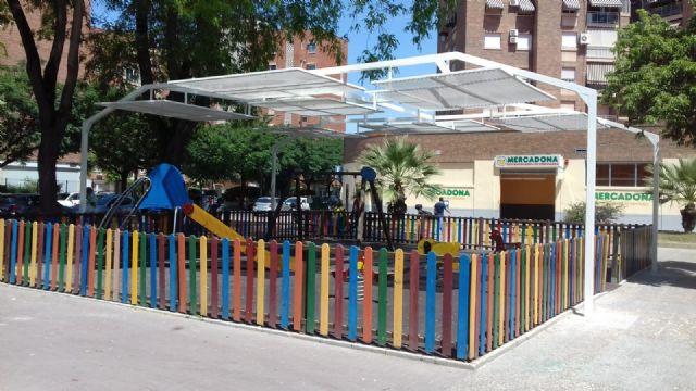 Cuatro zonas de juegos infantiles de El Ranero, el Infante y Santiago y Zaraíche ya disponen de pérgolas de sombraje - 3, Foto 3
