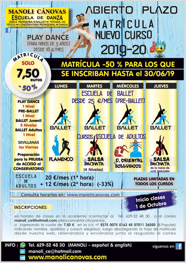 La Escuela de Danza Manoli Cánovas abre el plazo de matrícula para el curso 2019-20, Foto 1