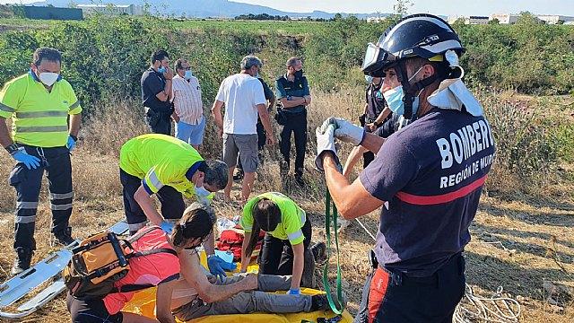 Rescatan a un hombre que se había caído a un pozo en Fuente Álamo - 2, Foto 2