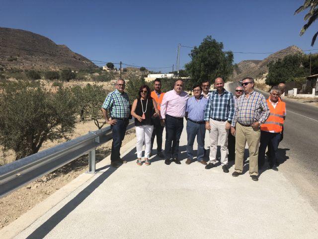 La Comunidad refuerza la seguridad de la carretera que comunica Canteras con el Puerto de Mazarrón, Foto 1