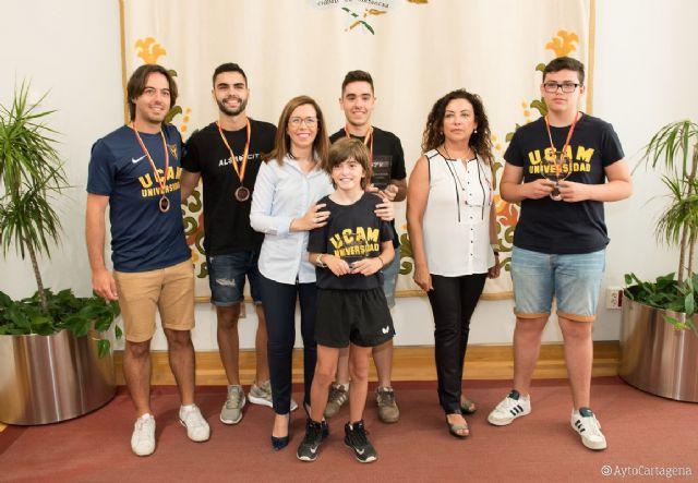 El Ayuntamiento de Cartagena reconoce los éxitos del Tenis de Mesa cartagenero - 1, Foto 1