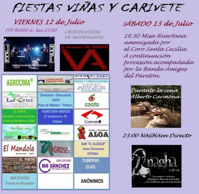 Las fiestas de la diputación de Viñas y Carivete se celebran este próximo fin de semana - 2, Foto 2