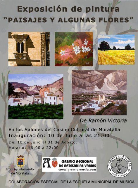 Paisajes y algunas flores, de Ramón Victoria en el casino cultural de Moratalla - 1, Foto 1