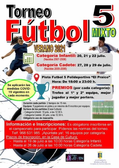 Apúntate al Torneo de Fútbol 5 mixto de este verano 2021, Foto 2