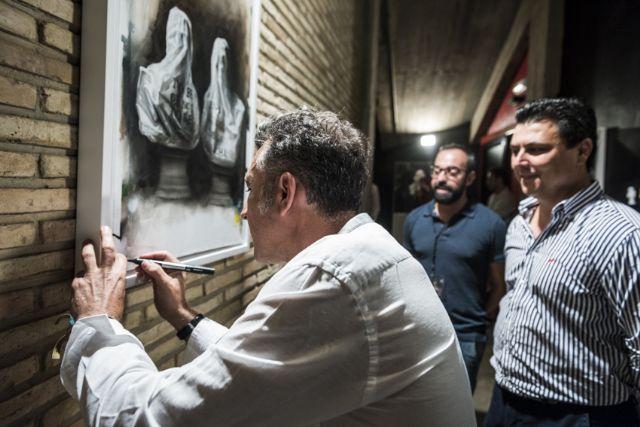 Nicolás de Maya inaugura el nuevo espacio artístico del auditorio de San Javier con una muestra del  proceso creativo del cartel de la 47 edición del Festival de Teatro, Música y Danza - 2, Foto 2