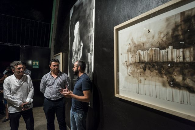 Nicolás de Maya inaugura el nuevo espacio artístico del auditorio de San Javier con una muestra del  proceso creativo del cartel de la 47 edición del Festival de Teatro, Música y Danza - 3, Foto 3